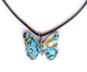 Necklace / pendant Abalone Nacre Butterfly 40mm x 13mm.