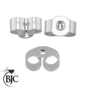 BJC® Pair of 925 Sterling Silver Stamped Earring Backs Scrolls Butterfly Stud Post Backs 5mm