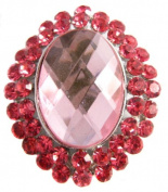 Pick A Gem A Stunning Pink Oval Shaped Quality Crystal Vintage Style Brooch Broach Pin