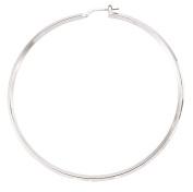 Plain Silver Large Hoop Earrings