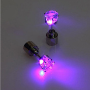 2pcs Light Up Led Earring Ear Stud Dance Party Accessories