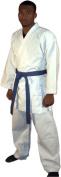Adult Karate Suit White Uniform Poly/Cotton Gi inc free belt M/W Preshrunk, karate white kimono, white karate gi, Karate kata suit