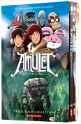 The Amulet Graphic Novels Books Set by Kazu Kibuishi