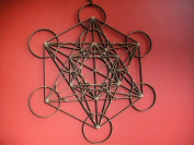 Wood Metatrons Cube 24cm Wall Art Sacred Geometry. LASER CUT