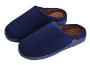 Winter Cotton Slippers Male More Household Indoor Warm Slippers Navy Blue