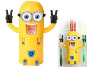 Toothbrush Holder Automatic Toothpaste Dispenser Minions Design