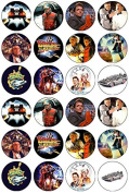 24 Back to the Future Theme Edible Cupcake Toppers