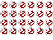24 Ghostbusters Edible Wafer Paper Cup Cake Toppers