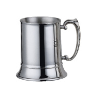 Savage 470ml Beer Mug 18/8 Stainless Steel Double-walled with Handle Mirror Finished