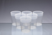 Dishwasher Safe Stackable Transparent Plastic Cups / Beakers / Tumblers 250ml