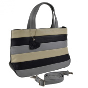 Ladies LEATHER Grab BAG by Mala; Burchell Collection Handy Shoulder Handbag
