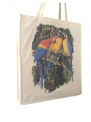 Maccaw Parrot Tropical Bird (b) Themed Cotton Shopping Bag with Gusset and Long Handles Perfect Gift
