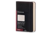 Moleskine 2017 Daily Planner, 12m, Pocket, Black, Hard Cover