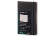 Moleskine 2017 Weekly Notebook, 12m, Pocket, Black, Soft Cover