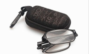 RG51 SUPER-LITE TR90 Material FOLDING,BENDABLE Black Reading Glasses Includes Case + Cloth +1.5 +2.0 +2.5
