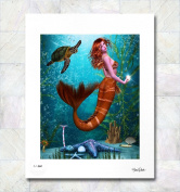 Mermaid Oyster Reef Limited Edition Fine Art Print By Gina Brake