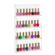 Beautify Wall Mounted Acrylic Nail Polish Organiser Display Rack