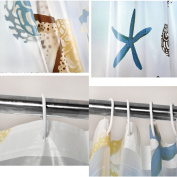 Ieasycan curtain for shower, 180cm by 180cm , shower curtain made with 100% polyester with liner and 12 hooks. PEVA material that is water repellent and gets dry instantaneously