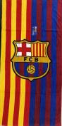 FC BARCELONA SOCCER TEAM TWO TONE BEACH TOWEL 80cm x 150cm