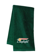 Southern Pacific Daylight Embroidered Hand Towel Forest Green [01]