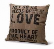 Divinity Boutique 84662 Cushion-Love Seeds-Leather, Grey