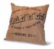 Divinity Boutique 84670 Cushion-Hebrews 11-1, Leather