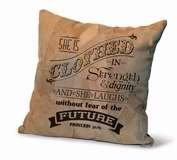 Divinity Boutique 84673 Cushion-Proverbs 31-25, Leather