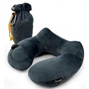 Daydreamer Neck Pillow - Luxuriously Soft Inflatable Travel Pillow for Sleeping on Aeroplane, Car, Train and Bus