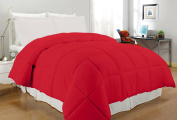 South Bay OS BR KG CFR220T Down Alternative Comforter, King, Bright Red