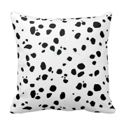 Cute Pillow Cover Cotton 20 X 20 Twin Sides Animal Print Dalmation Throw Pillowcases