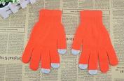 Safeinu Fluorescent colour Touch Screen Knitted Warm Magic Gloves