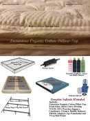 Queen Softside Waterbed With Organic Pillowtop & semi Wave mattress