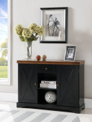 Kings Brand Black / Walnut Finish Wood Buffet Cabinet Console Table