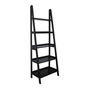 MINTRA 5 Tier A-Frame Ladder Shelf, Black