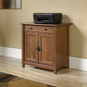 Sauder Edge Water Utility Cart/Stand in Auburn cherry