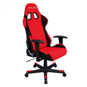 DXRacer FD01/RN Red Black Racing Bucket Seat Office Chair Gaming Ergonomic with Lumbar Support