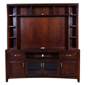 Sunny Designs K3332CA Cappuccino TV Console with Hutch