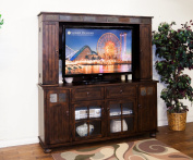 Sunny Designs K3322DC Santa Fe TV Console with Hutch