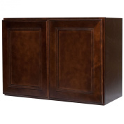 Everyday Cabinets 36 x 30cm x 30cm .Soft Close Double Doors Bridge Wall Cabinet in Leo Saddle with 2 Doors RTA