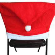 Lookatool® 4pcs Santa Red Hat Chair Covers Christmas Decorations Dinner Chair Xmas Cap Sets