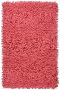Pink 50cm x 90cm Shagadelic Chenille Twist Rug with. Shag