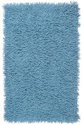 Blue 50cm x 90cm Shagadelic Chenille Twist Rug with. Shag
