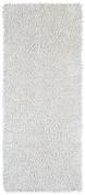 White 0.6m x 1.5m Shagadelic Chenille Twist Rug Runner with. Shag