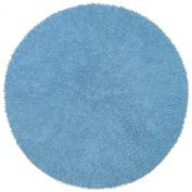 Blue 0.6m x 0.6m Shagadelic Chenille Twist Round Rug with. Shag