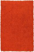 Orange 50cm x 90cm Shagadelic Chenille Twist Rug with. Shag
