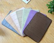 Lopkey Memory Foam Polyester Rug Pads Non-slip Bath Mat