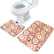 Sannysis(TM) 2PCS Rug Memory Foam Bathroom Rug Mat Floor Carpet Set