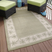 Lavish Home Palm Trees Indoor/Outdoor Area Rug, 1.5m x 2.1m, Green