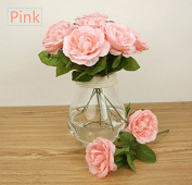 A Set Of 3 Highly Artificial Silk Cloth Material Flower Elegant Rose For Home Decoration and Wedding Bouquet, 6 Colours Available