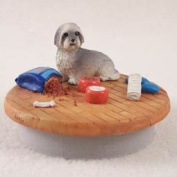 "Lhasa Apso Grey w/Sport Cut Candle Topper Tiny One ""A Day at Home"""